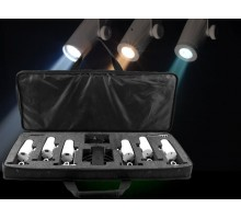 Chauvet EZPINPACK Pack of 6 Battery Powered Portable 2W LED Pin spot with remote, and case