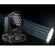 Event Lighting M19W15RGBW Moving head zoom wash 19 x 15W RGBW LEDs pixel control and 5-36 degree zoom