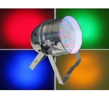 Light Emotion P64PLED LED Par 64 RGB DMX 30W 183 LEDs - Polished: Piggy Back Plug, double yoke, digital display - polished