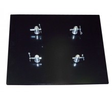TT300BP Base Plate Box or Tri Truss 290mm, Heavy Duty 25kg. 600mm x 600mm Includes 4 half couplers