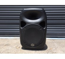 """Condition: Second Hand - Active 1600W PRG 15"""" 2-Way ABS Moulded Speaker. Qubit processor;   features true independent LF and HF signal limiting - Clearance Item"""