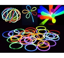 100GLOW 100 Mixed Colour Glow Sticks