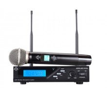 Wharfedale AEROLINE Wireless UHF Microphone, 320 selectable channels
