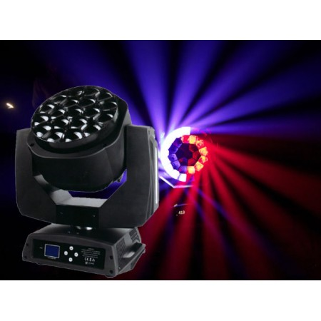 Light Emotion Professional BEYE1915Z Bee Eyes 19 x 15w RGBW LED Moving Head