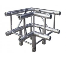 BT3CB Truss box truss 290mm x 90deg 3 way corner includes 8 couplers, 2mm thick with global compatible connection