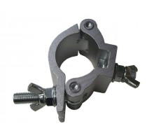 Light Emotion DRA012 Round truss clamp suitable for standard 50mm trussing. Comes with threaded M12 (12mm) nuts and bolts, rated maximum load 295kg.