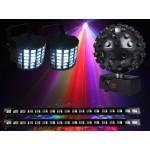 Light Emotion ENT1 Disco Light Pack 1 package: 2 x DERBY2, 1 x LEDBALL6, 2 x UVBAR