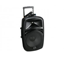 "Wharfedale EZ12A PORTABLE PA, 12"", dual wireless mic"