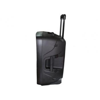 "Wharfedale EZ15A Battery powered portable PA, 15"", UHF dual wireless mic, blue tooth"