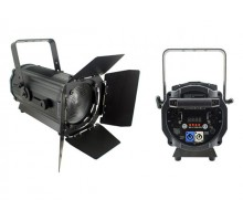 Light Emotion Professional FRES200RGBW 200w RGBW LED Fresnel with Barn Doors. 15-55 degree zoom