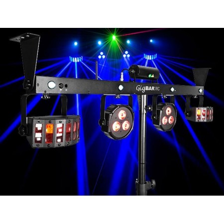 Chauvet GIGBAR2 DJ Gig Bar 2 - 4 in 1 light with 2 Derbies, 2 pars a laser and strobe all in one bar.