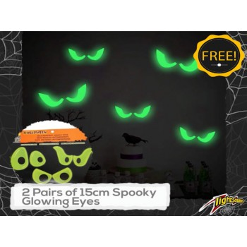 Light Emotion HALLOWEEN1 Halloween Pack - 4 RGB up lights, 4 UV up lights and Halloween Party Decorations