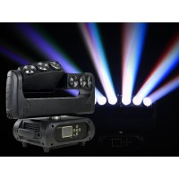 "Event Lighting M6B10RGBW Moving head multi beam 6 x 10W RGBW LEDs pixel control with twin ""Y"" heads."