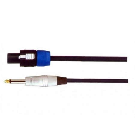 SoundKing MSMJSL10 NL4-M Speakon to TS-M 6.35mm Jack 2 Core Speaker Lead (10m)