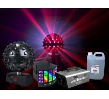 Light Emotion N183 The Five Pack. Package: 1 x ledball6, 1 x derby4, 1 x z900w, 1 x fog5h