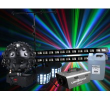 Light Emotion N186 Package: 2 x derby2, 1 x ledball6, 1 x z900w, 1 x fog5h, 2 x uvbar, 1 x lts1b + more
