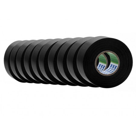 Nitto PVCTAPE203ENITTO_BLACK 10PACK 203E PVC Electrical Tape 10 Pack – Black