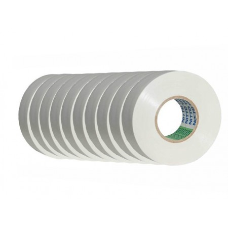 Nitto PVCTAPE203ENITTO_WHITE 10PACK 203E PVC Electrical Tape 10 Pack – White