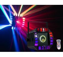 Event Lighting ORBIT 3 in 1 effect light 64 x 0.25W LED Matrix, 36 x 0.25W white LED strobe and 2 x 9W RGB LED
