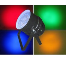Light Emotion P64LED LED Par 64 RGB DMX 30W 183 LEDs - Black: Piggy Back Plug, double yoke, digital display