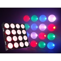 Event Lighting PAN4X4X30 LED Pixel panel with 4 x 4 30W RGB, Power-con in and out, 3 and 5 pin DMX