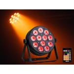 Event Lighting PAR12X12L 12x 12 W LED RGBWAU LED Parcan with IR Remote