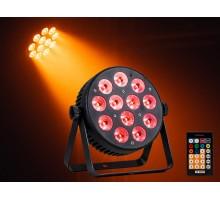 Event Lighting PAR12X12L 12x 12 W LED RGBWAU LED Parcan with IR Remote