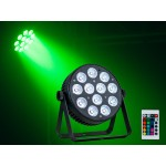 Event Lighting PAR12X8L 12x 8 W LED RGBWAU LED Parcan with IR Remote