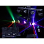 CR-Tec PARTYBAR PARTY BAR - Laser, LED Strobe, Derby and LED par can effect together, 4 in 1