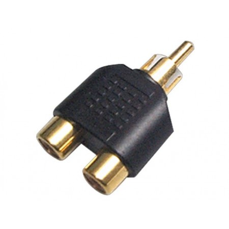 SoundKing RM2RF2 2 PACK Double RCA-F to RCA-M Adapter