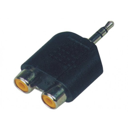 SoundKing SMJRF22 2 PACK Double RCA-F to TRS-M 3.25mm Jack Adapter