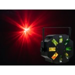 Event Lighting STORME 1x12W RGBW 8x lens 3x rotating moon flower multi beam effect.
