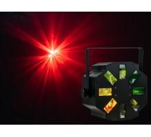 Event Lighting STORME 1x12W RGBW 8x lens 3x rotating moon flower multi beam effect.