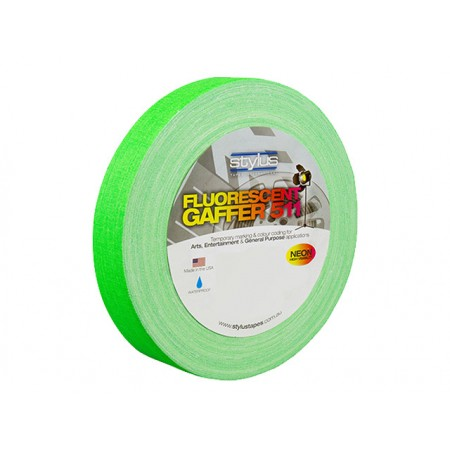 Stylus STY1FLURO GREEN 511 Gaffer Tape Matt Finish Neon/Fluro Colours 24mm x 45 Metres [Colour: Green]