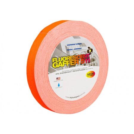 Stylus STY1FLURO ORANGE 511 Gaffer Tape Matt Finish Neon/Fluro Colours 24mm x 45 Metres [Colour: Orange]