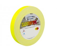 Stylus STY1FLURO YELLOW 511 Gaffer Tape Matt Finish Neon/Fluro Colours 24mm x 45 Metres [Colour: Yellow]