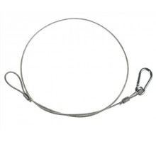 SW3X800PC Safety wire, 3mm steel, 760mm long PVC coated.