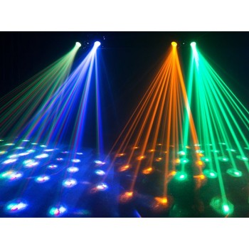 Chauvet SWARM4FX 3 FX in one - dual moon flower, red/green laser and white strobe