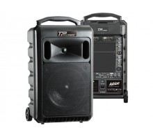 Ashton TRANSPORTA120 120W Portable Battery Powered PA with Dual Mic System (1 Hand Held and 1 Body Pack + Lapel)
