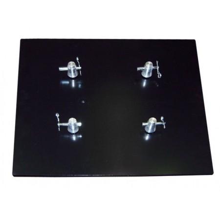 TT300BP Base Plate Box or Tri Truss 290mm, Heavy Duty 25kg. 600mm x 600mm Includes 4 half couplers