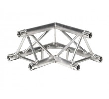 TT3CA Truss tri truss 290mm x 90deg 2 way corner with apex up or down including 3 couplers, 2mm thick with global compatible connection