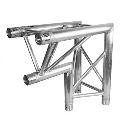 TT3CB Tour truss tri truss 290mm x 90deg 2 way corner with apex in, 2mm thick with global compatible connection