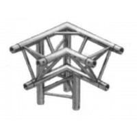 TT3CG Truss tri truss 300mm x 90deg 3 way corner with apex down (left/apex back), 2mm thick with global compatible connection