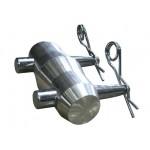 TTCOUPLER Truss conical coupler, pin and spigot set ( 1x coupler, 2x pins and 2x spigots)