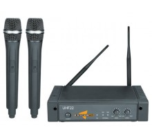 ESP Technology UHF22 New Dual UHF Wireless Microphone System with two Handheld Mics
