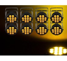 UPLIGHT1 Up Lighting Package package: 8 x SLIMPARQ12U, 8 x FCMCML10