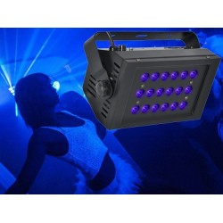Light Emotion UVLED18 UV LED Flood Light - 18 x 1W LED UV Brick. DMX Controllable