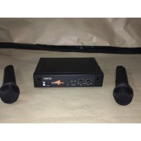 Condition: Second Hand - Dual UHF Wireless Microphone System with two Handheld Mics - Clearance Item