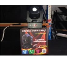 Condition: Second Hand - 60w LED Moving Head. Colours, gobos, pan & tilt. - Clearance Item