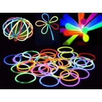 100GLOW 100 Mixed Colour Glow Sticks
